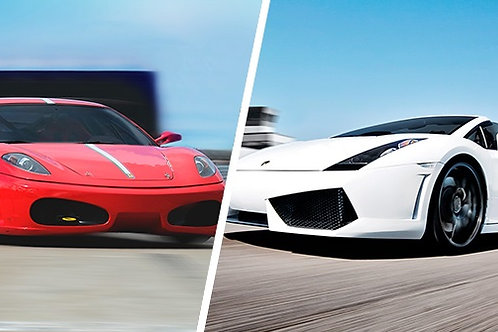 Combo Ferrari & Lambo: 4 Laps with 4 Full Throttle Sprints included