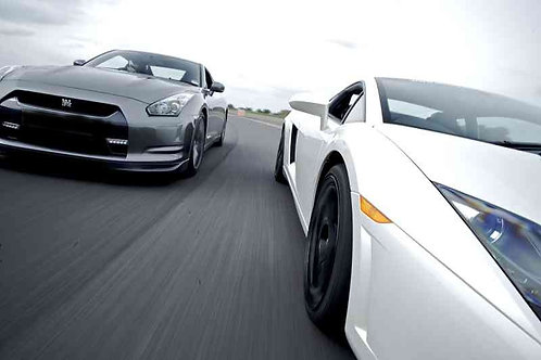 Combo Lambo & GTR : 2 Laps in Each Car including 2 Full Throttle Sprints