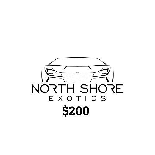 $200 North Shore Exotics Gift Certificate
