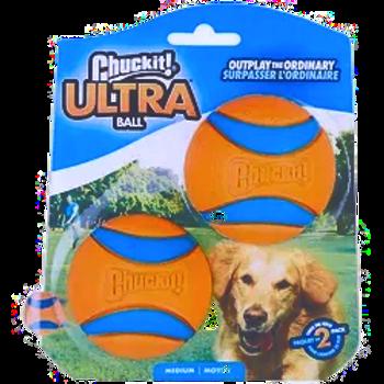 Chuckit Ultra Ball 2 Pack Medium 6.5cm