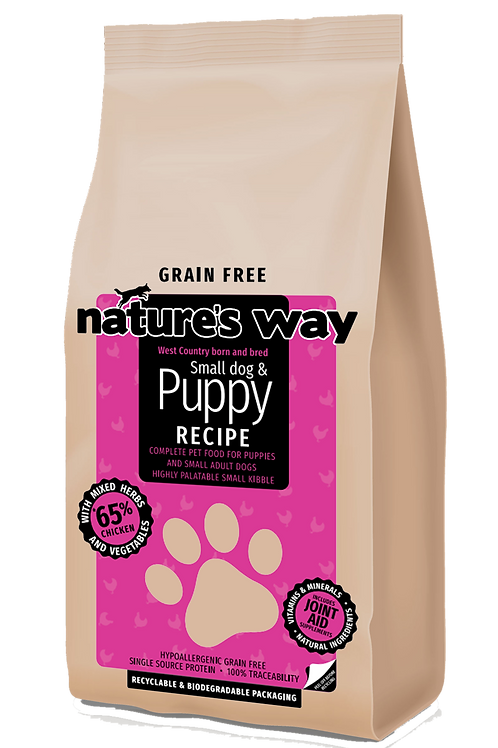 10kg Nature's Way GRAIN FREE Puppy & Small Dog Recipe