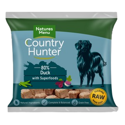 Natures Menu Frozen Country Hunter Duck Dog Nuggets 1kg