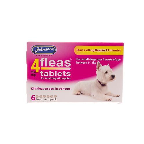 4fleas Tablets for Dogs under 11kg (6 Tablets)