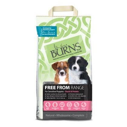 Burns Free From Puppy Duck & Potato (Buckwheat) 12kg