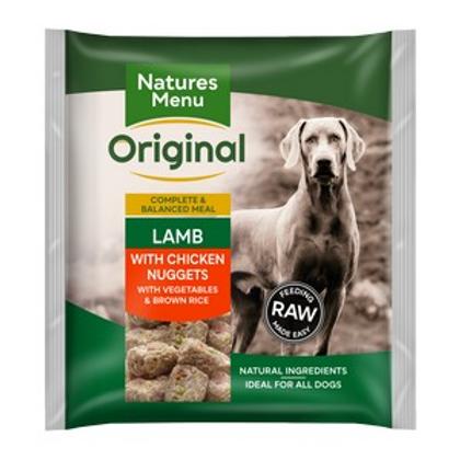 Natures Menu Frozen Nuggets Lamb Veg and Rice 1kg