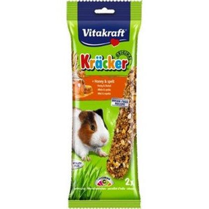 Vitakraft Kracker Honey Spelt Guinea Pig - Twin Pack