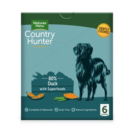 Natures Menu Country Hunter Dog Pouch Duck (6 Pack)