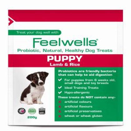 Feelwells Probiotic Puppy Treats Lamb and Rice 200g