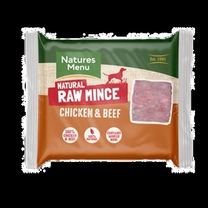 Natures Menu Frozen Chicken & Beef Mince 400g