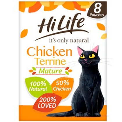 HiLife Its Only Natural Pouch Mature Chicken Terrine 8 Pack 70g