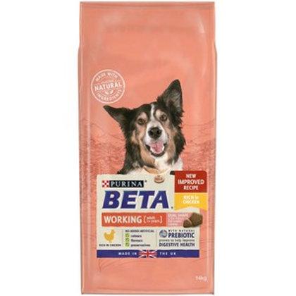 BETA Adult Working Dog Dry Dog Food Rich In Chicken 14kg