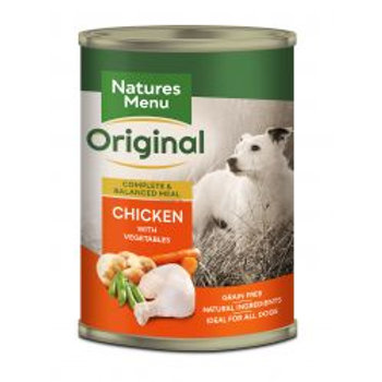 Natures Menu Dog Adult Chicken Potato Pea and Carrot 400g