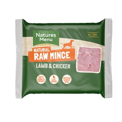 Natures Menu Frozen Lamb & Chicken Mince 400g