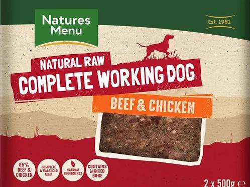 Natures Menu Working Dog Beef & Chicken - 2 x 500g