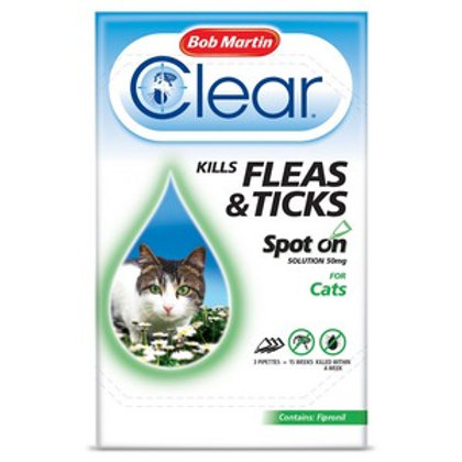 BM Clear Flea Clear Spot On for Cats (3 Pipettes)