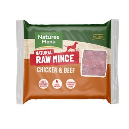 Natures Menu Frozen Chicken & Beef Mince 400g