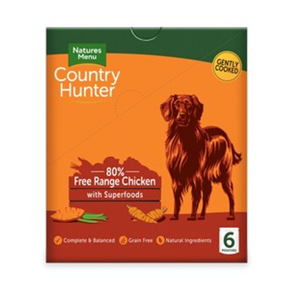 Natures Menu Country Hunter Dog Pouch Chicken (6 Pack)
