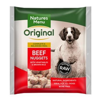 Natures Menu Frozen Nuggets Beef Lunch 1kg