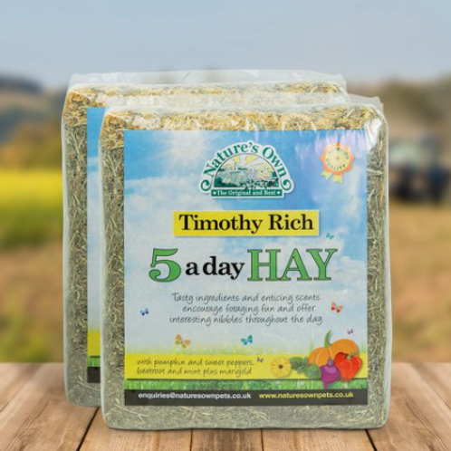 Nature's Own Timothy Rich 5 A Day Hay 1kg