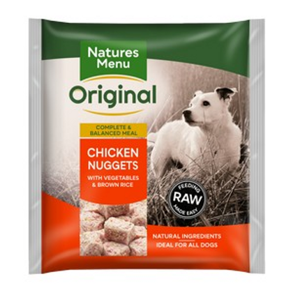 Natures Menu Frozen Nuggets Chkn Veg and Rice 1kg