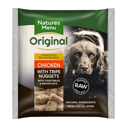Natures Menu Frozen Nuggets Tripe and Chicken 1kg