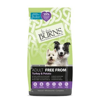 Burns Free From Adult Turkey & Potato 12kg