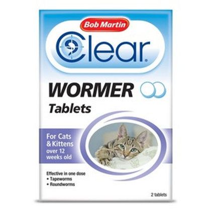 BM Clear Wormer Tablets For Cats (2 Tabs)