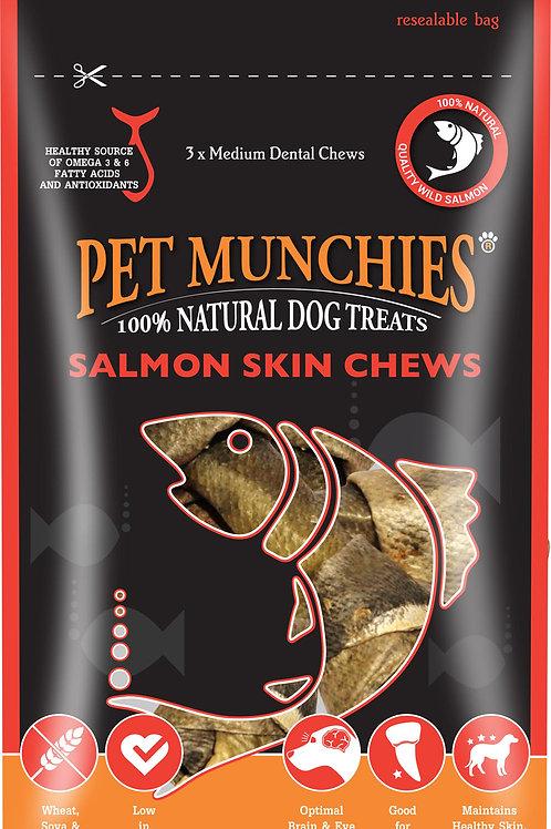 Pet Munchies Salmon Skin Chews - Small