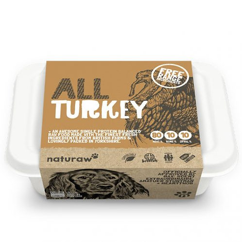 Naturaw All Free Range Turkey (500g)