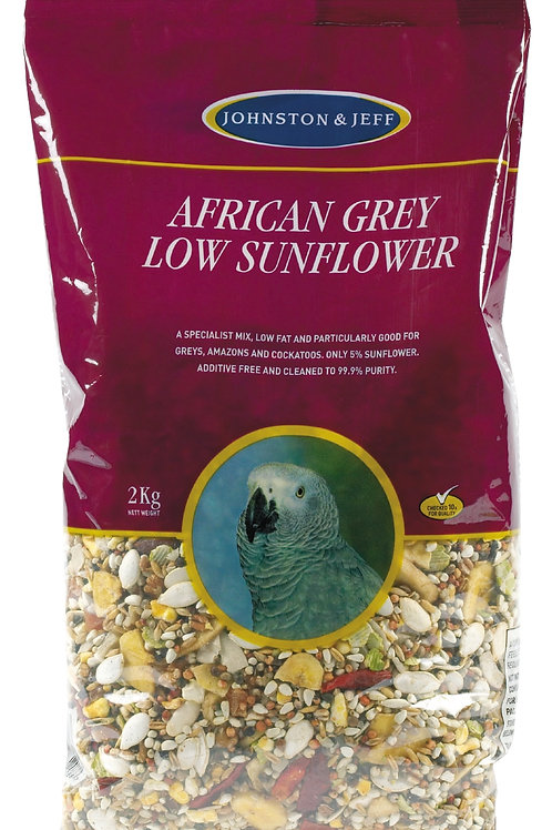 Johnson & Jeff Low Sunflower for African Greys 2kg