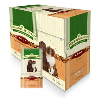 Wellbeloved Turkey and Rice Adult Pouch 10 x 150g