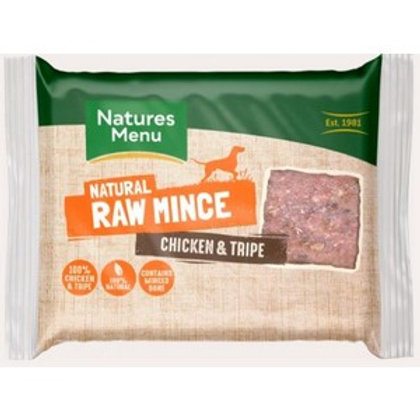Natures Menu Frozen Chicken and Tripe Mince 400g