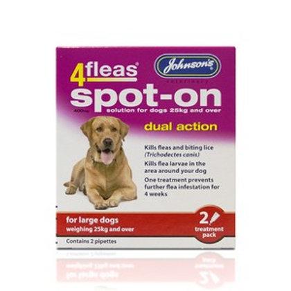 4 Fleas Spot On Large Dog 400mg