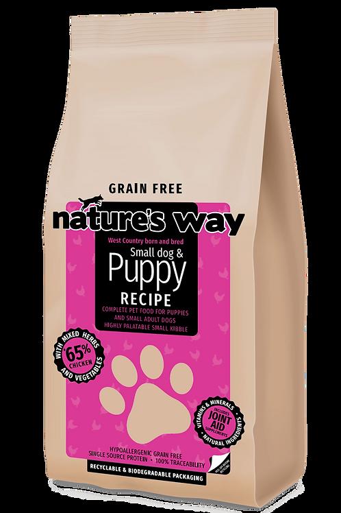10kg Nature's Way GRAIN FREE Puppy & Small Dog Recipe