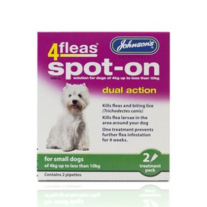 4 Fleas Spot On Small Dog 100mg