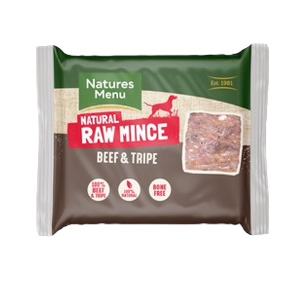 Natures Menu Frozen Beef and Tripe Mince 400g