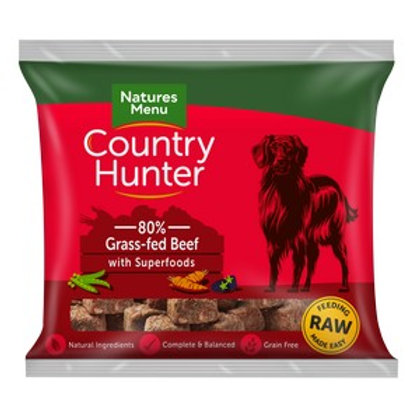 Natures Menu Frozen Country Hunter Grass-Fed Beef Dog Nuggets 1kg