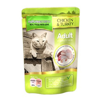 Natures Menu Cat Pouch Adult Chicken and Turkey 100g
