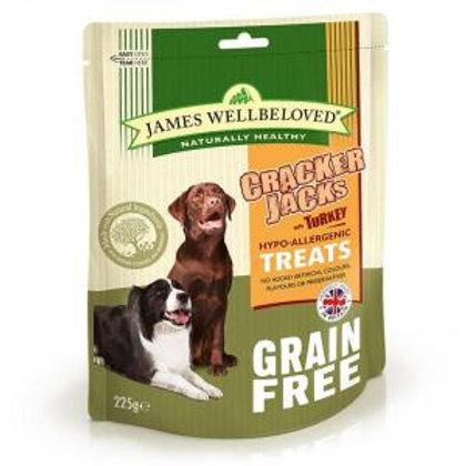 Wellbeloved Crackerjacks Cereal Free Turkey 225g