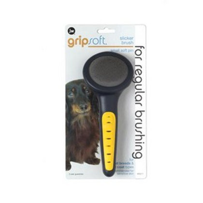 JW Gripsoft Grooming Small Slicker Brush Soft Pin