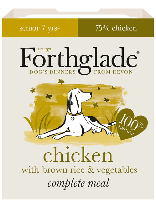 Forthglade Chicken with brown rice & vegetables (395g)