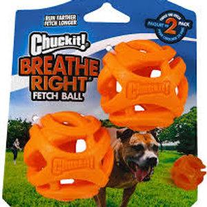 Chuckit Breathe Right Fetch Ball Small (2Pk) 4.8cm