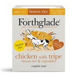 Forthglade Chicken with tripe, brown rice & vegetables (395g)