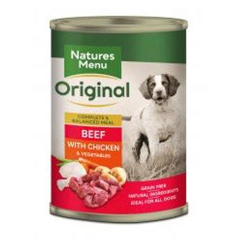 Natures Menu Dog Adult Beef Chicken Potato Pea Carrot 400g