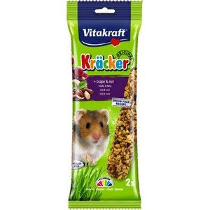 Vitakraft Kracker Hamster Grape & Nut - Twin Pack