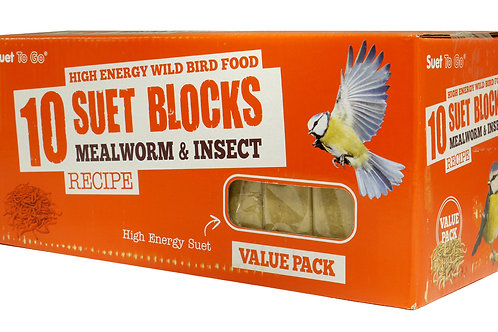 Mealworm & Insect Suet Cakes - 10 Pack