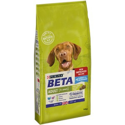 BETA Adult Dry Dog Food with Turkey & Lamb 14kg