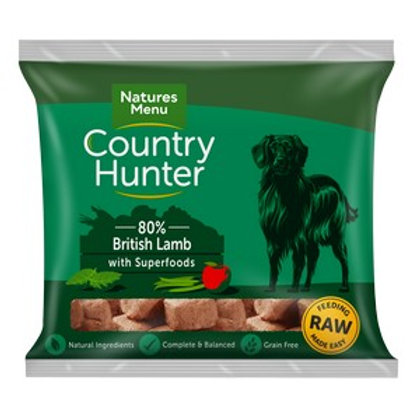 Natures Menu Frozen Country Hunter British Lamb Dog Nuggets 1kg