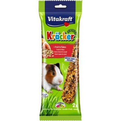 Vitakraft Kracker Fruit Flakes Guinea Pig - Twin Pack