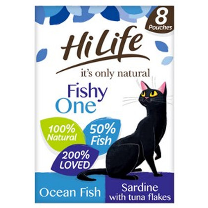 HiLife Its Only Natural Pouch The Fishy One In Jelly 8 Pack 70g